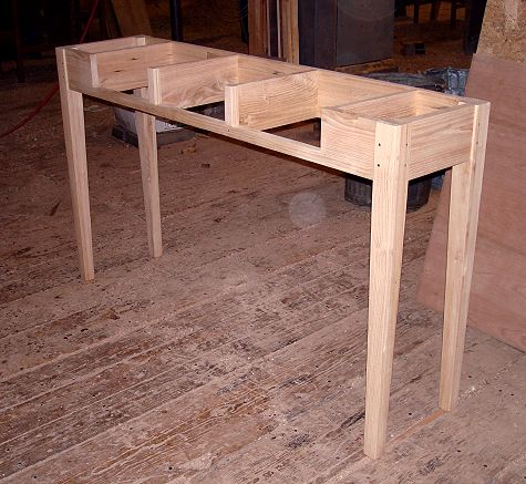Reclaimed American Chestnut Side Table Reproduction